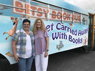 Carla Whiles and Becky Wagner at Bus