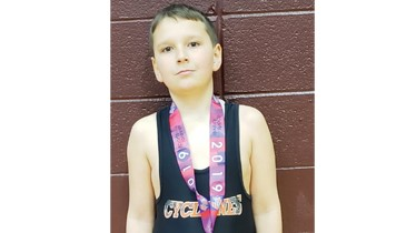 East Side Elementary fourth grader, Don Singleton, took sixth place at the AAU Spring Youth Nationals in the 105 pound divions.