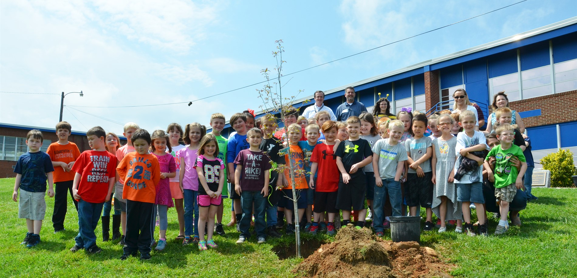 Planting a tree on Earth Day